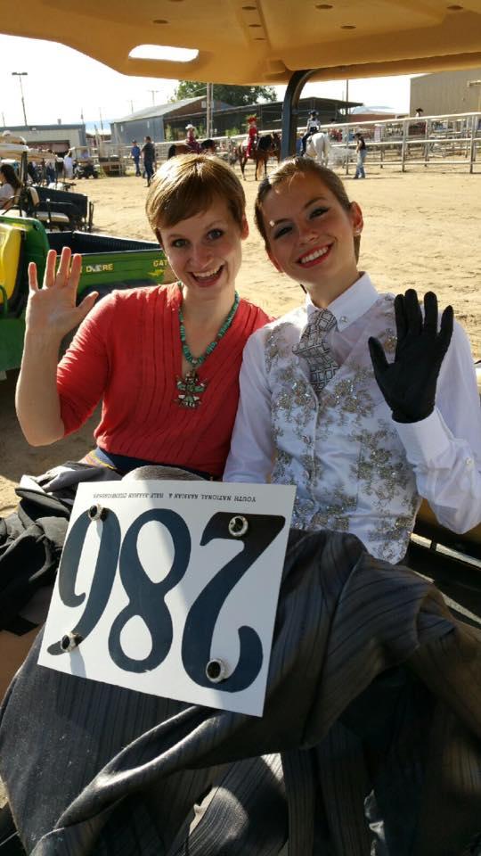 Kiira and sister Kinkela at Youth Nationals