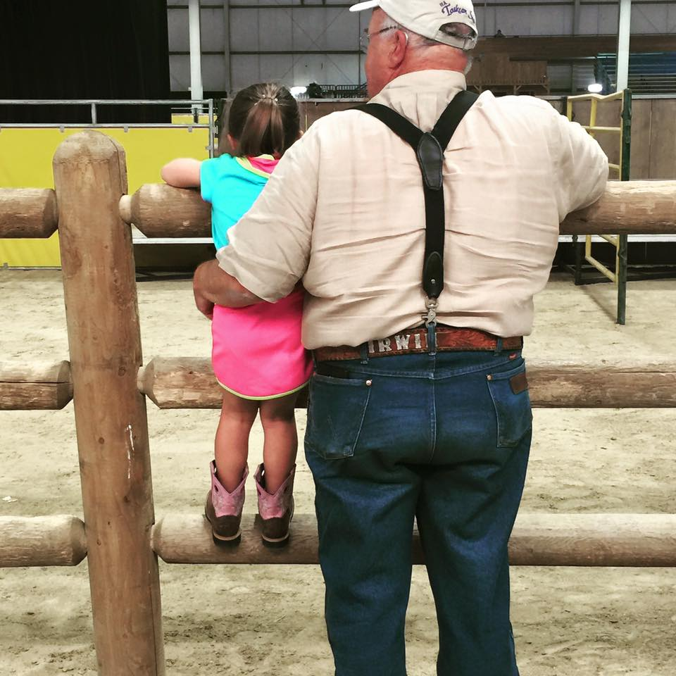 Patience and her Grandpa at the 2015 Region 4 Championships